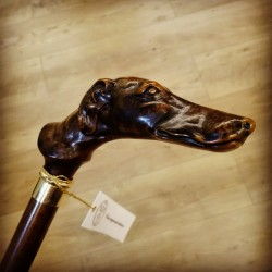 [:it]Bastone da passeggio - Cane Levriero[:en]Walking stick - greyhound [:]