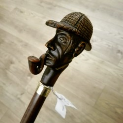 Bastone da passeggio Fumatore di pipa elegante accessorio moda per cerimonia collezione fatto a mano in Italia