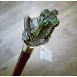 Walking stick - green frog